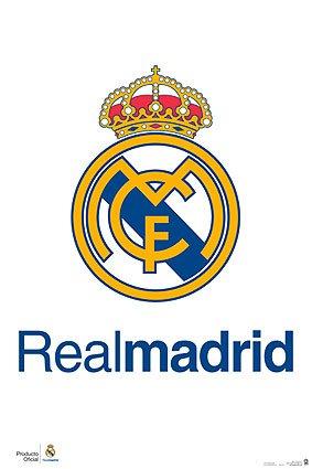 Real Madrid Poster - Official Team Crest / Logo