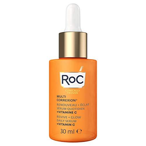 RoC - Multi Correxion Revive + Glow Siero Quotidiano Vitamina C - Anti Rughe e Invecchiamento - Crema Idratante Rassodante - 30ml