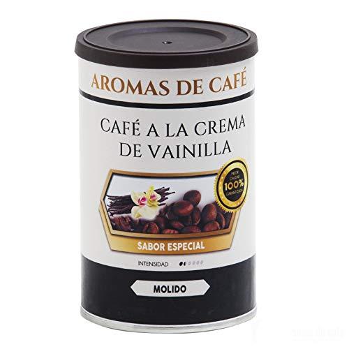 Aromas de Café - 100% arabische Kaffeebohnen, Vanillecreme, leicht geröstetem und intensivem Getreidevanillearoma, 100 gr
