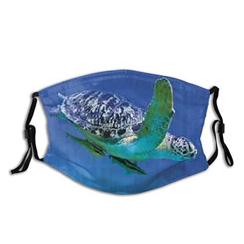 ZELXXXDA Tropen Schildkröte Aquarium Mädchen,Staubwaschbarer wiederverwendbarer Filter und wiederverwendbarer Mundschutz gesicht