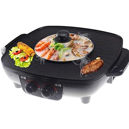 YFGQBCP Pan de plástico Cubierta eléctrico Antiadherente Termostato Ajustable Grill, lavavajillas Seguro, más rápidamente el Calor, Las Comidas con Poca Grasa