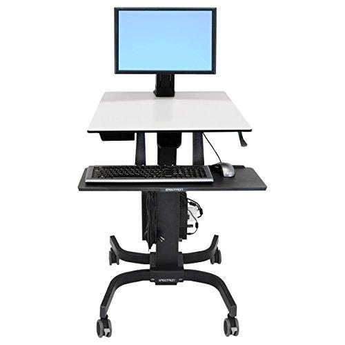 Ergotron WorkFit-C Single LD Sit-Stand Workstation - Wagen für LCD-Anzeige/Tastatur/Maus/CPU - Grau, Schwarz