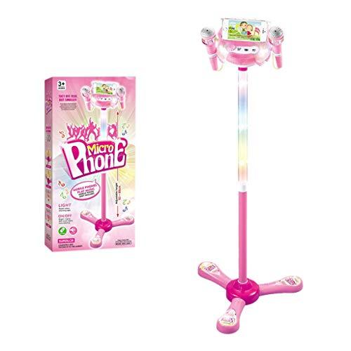 Kinder Karaoke Maschine mit 2 Mikrofonen einstellbarem Stand Musik Spiel Spielzeug Set YunYoud kinderspielzeug für Kleinkinder kinderspielzeug babyspielwaren