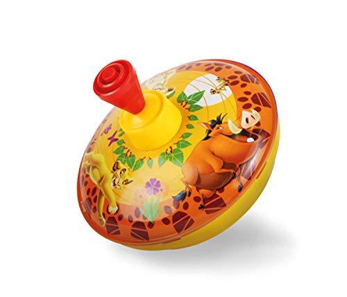 Bolz 52531 - Trottola Disney Re Leone, Ø 13 cm, trottola in lamiera, trottola Produce brummton, per Bambini a Partire da 1,5 Anni, trottola in Metallo con Motivo Disney