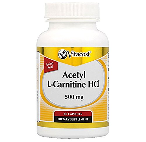 Vitacost Acetyl L-Carnitine HCl - 500 mg - 60 Capsules
