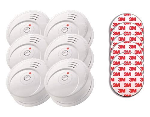Jeising GS506 G 6er Rauchwarmelder KRIWAN Zertifiziert EN14604 incl. Magnetbefestigung Magnetopad mit 10 Jahres Lithium Batterie