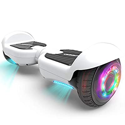 "HOVERSTAR All-New HS2.0 Hoverboard 6.5"" Two-Wheel Self Balancing Flash Wheel Electric Scooter (White)"