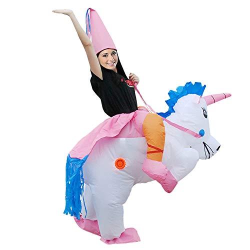 LOVEPET Unicornio Tianma Inflatable Clothing Animal Mount Back Man Traje De Rendimiento Inflables Navidad Disfraz De Halloween Masquerade Props