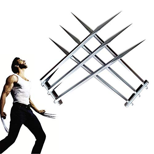 damdos Halloween Cosplay Props Two Piece One Pair Wolverine Claws Wolf Paws ABS Palstics Birthdays Gifts Silver