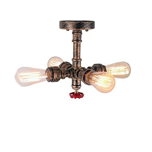GWFUR Vintage Edison Industrial Style E27 Wasserleitung Licht, Wohnzimmer Schreibtisch Cafe Dekoration Tischlampe