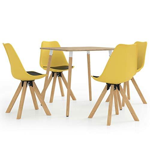 Tidyard Mesa Salón y Sillas,Muebles de Jardin Exterior Conjuntos 4# Juego de...