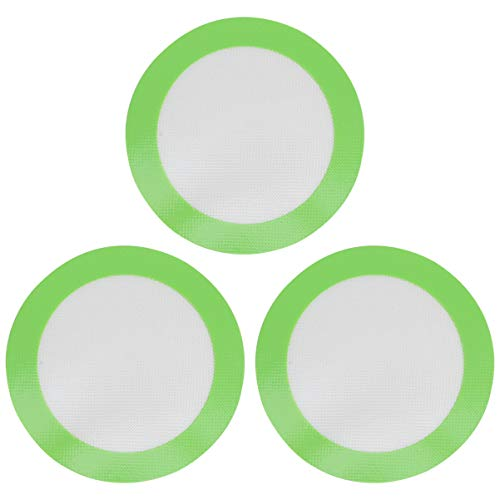 BESTonZON Silicone Baking Mats, 3-Pack Non-Stick Round Silicone Baking Sheet Liner,Reusable Heat Resistant Baking Pastry Sheets Round(Green)