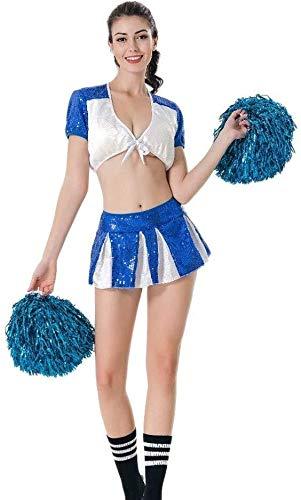 Hcxbb-12 Cheerleader Kostuum-Cheerleader Fancy Dress,Meisje Cheerleader Uniform Pak Sexy Shirt Shorts Pailletten Role-Playing Kleding Sport Competitie Dans Prestaties