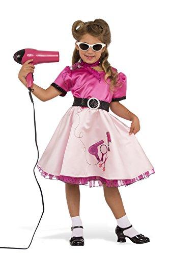 Rubie's Costume Child's 50's Beauty School Girl Costume, Medium, Multicolor