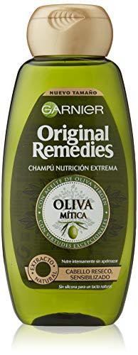 Garnier Original Remedies Champú Nutrición Extrema Oliva Mítica para Pelo Reseco y Sensibilizado - 300 ml