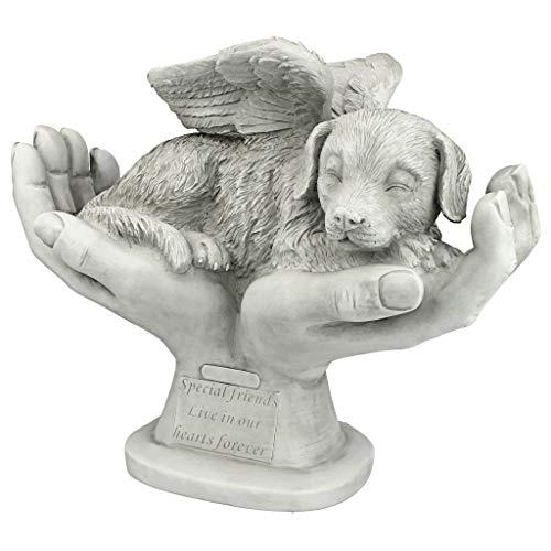 Design Toscano KY69912 In God's Hands Dog Pet Grave Memorial Outdoor Garden Statue