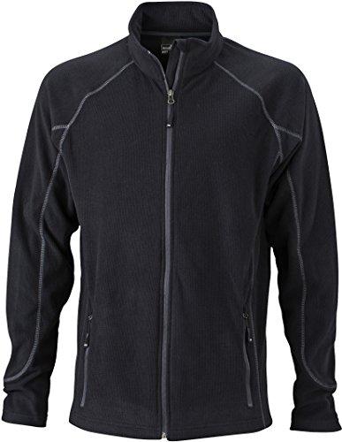 JN597 Men's Structure Fleece Jacket Leichte Outdoor-Fleecejacke, Größe:XXL;Farbe:Black-Carbon