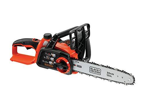 Black + Decker Tronçonneuse sans fil - Li Ion 36V GKC3630L20 avec batterie et chargeur - Idéal pour le travail du bois et le jardinage - Longueur d'épée de 30 cm