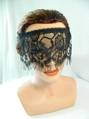 Maske aus Spitze Augenbinde schwarz Spitzenmaske