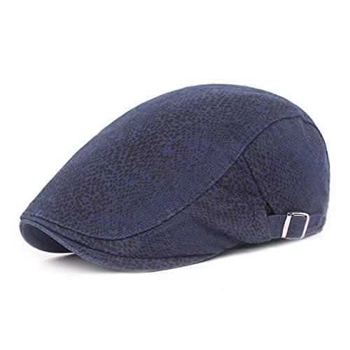 LHL Estilo parisino Hombres Mujeres Boina Sombreros Duckbill Moda Clásica Cabbie Flat Hat Golf Conducción Otoño Ajustable Tapas