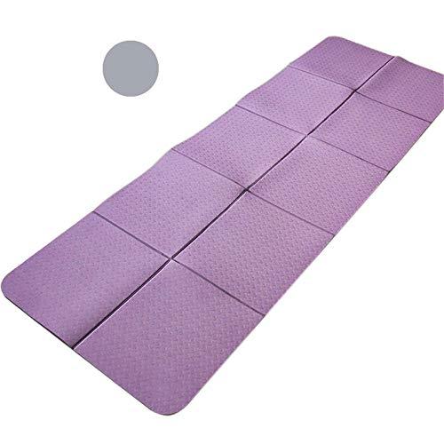 Esterilla de yoga para hombres y mujeres   Colchoneta ligera, colchoneta antideslizante para ejercicios plegable con bolsa de transporte   Tamaño 183 * 65 cm con 5 mm de espesor