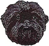 VirVenture 2 1/4' x 2 1/2' Affenpinscher Head Portrait Dog Breed Embroidery Patch Great for Hats, Backpacks, and Jackets.