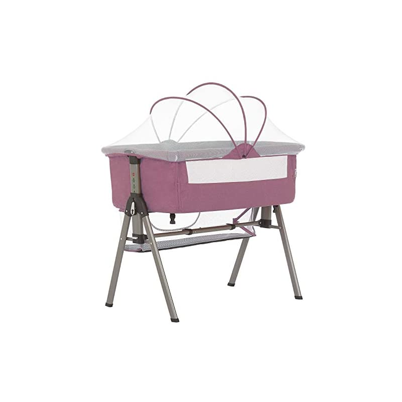 crib bedding and baby bedding dream on me lotus bassinet & bedside sleeper in berry pink
