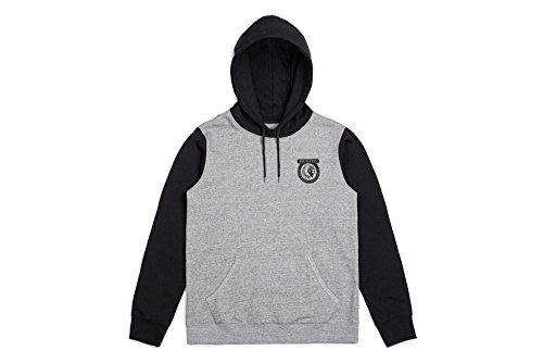 Brixton Men's Native Standard Fit Hooded Fleece Sweatshirt, Heather Grey/Black, XS