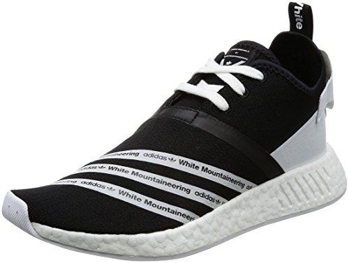 adidas WM NMD R2 PK, Zapatillas de Deporte Hombre, Negro (Negbas/Ftwbla/Ftwbla), 48...