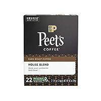 Keurig【 K-cup / Peet's Coffee ピーツコーヒー Kカップ ハウスブレンド ダークロースト 22カップ入り】 [並行輸入品]