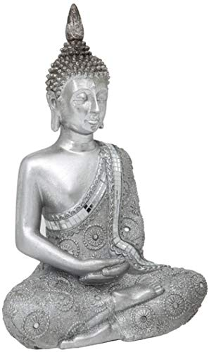 Thai Reflective Meditation Buddha with Glitter Effect - 11-Inch / 28cm