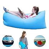 STKASE® Luftsofa Wasserdichtes Aufblasbares Sofa Air Lounger Mit Lufteinlass Lay Bag Outdoor-Sofa...