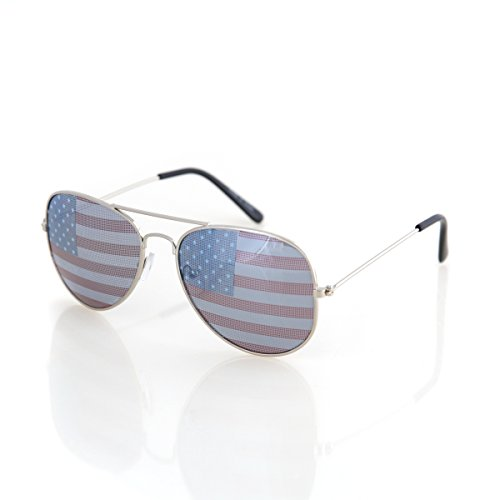 shaderz Aviator Gafas de sol de bandera de Estados Unidos América americano
