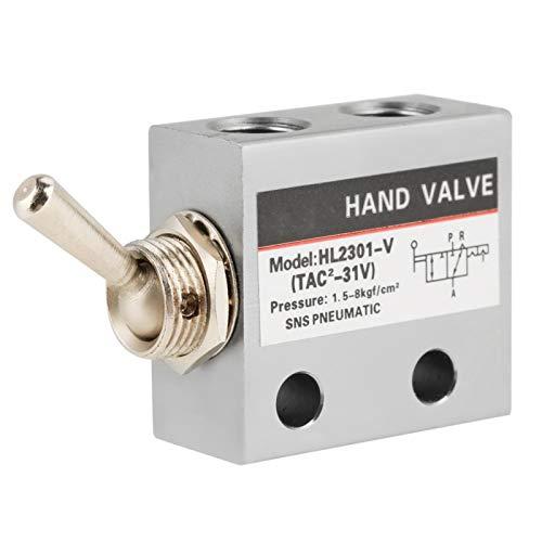 Válvula de interruptor, metal HL2301 Válvula mecánica neumática del interruptor de palanca de 2 vías de 3 posiciones