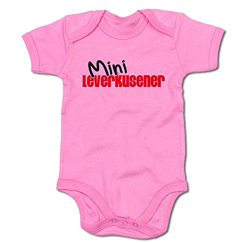 G-graphics Mini Leverkusener Baby-Body 250.0053 (0-3 Monate, pink)