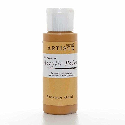 Pintura acrílica docrafts Artise, plástico, Oro Envejecido, 3.4 x 3.4 x 9.9 cm