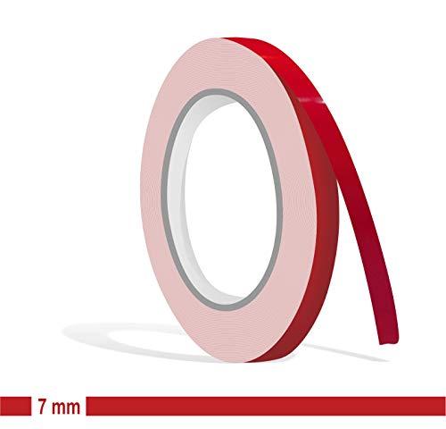 Siviwonder Zierstreifen rot Karmin Glanz in 7 mm Breite und 10 m Länge Aufkleber Folie für Auto Boot Jetski Modellbau Klebeband Dekorstreifen - Karminrot