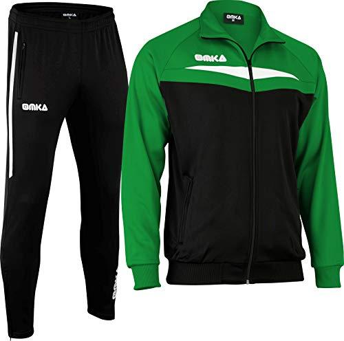 OMKA Trainingsanzug Sportanzug Jogginganzug Freizeitanzug (Grün, 3x_l)