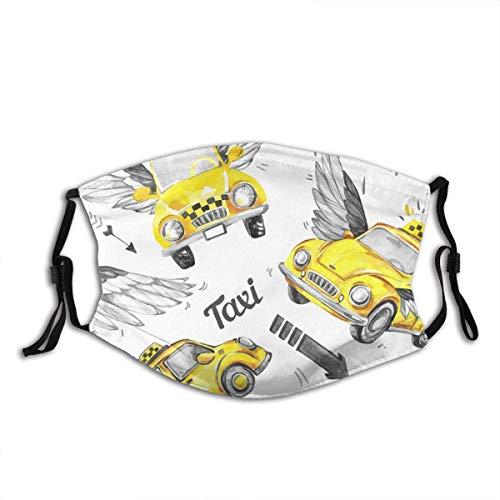 'N/A' Taxi de acuarela con coches, decoracin mgica para la cara, con filtro
