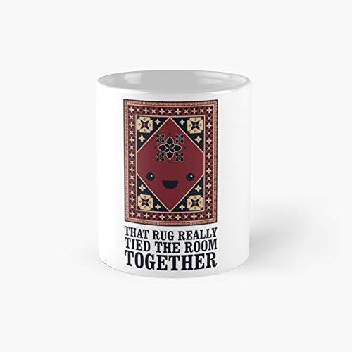The Big Lebowski – Taza clásica con texto en inglés «Rug That Really Tied Room Together»   Taza de café divertida de 12 onzas