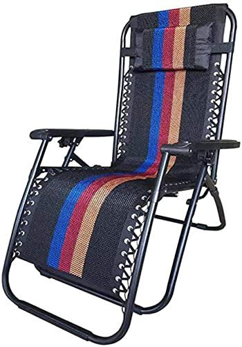 Sillón reclinable de reclinación Silla de la cubierta de la silla de la silla de la silla de la silla de la silla de la silla de la silla de la silla de la cabina del jardín, silla reclinada plegable