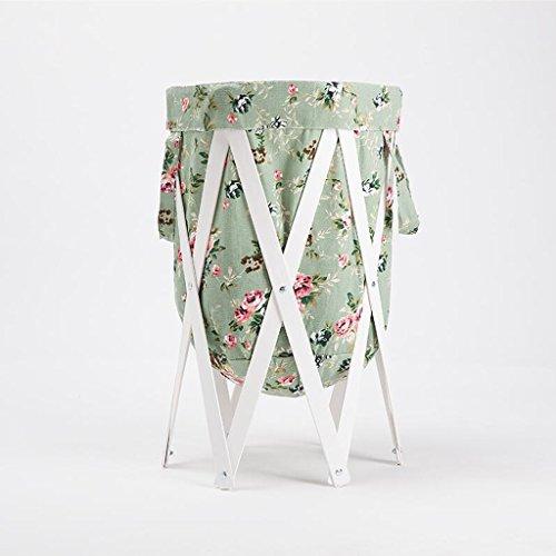 Xuan - Worth Another Tissu de Motif de Roses Bleues Stent Blanc changent des paniers de vêtements Panier de Rangement Tissu de Chiffon avec Le Panier à Linge Pliez Le Panier