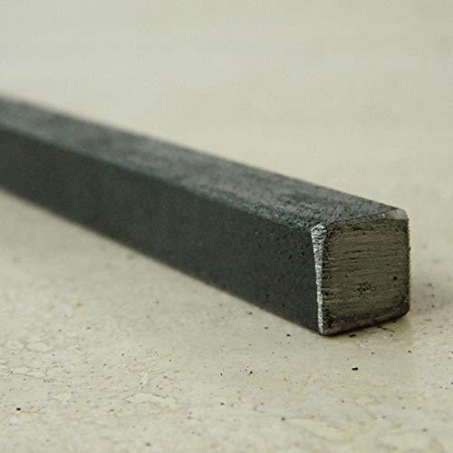 M.P. Metalli Barra quadrata in ferro liscio pieno 20x20 mm. misura 0,75 mt / 750 mm made in Italy