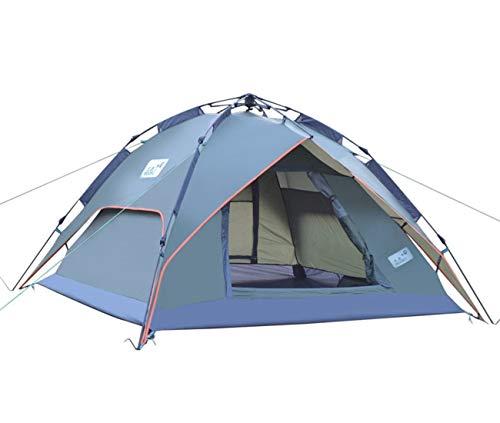 Fepelasi Outdoor tent, volautomatisch, tegen storm, opvouwbaar, voor 3-4 personen, voor wandelen, picknick op het strand, vissen