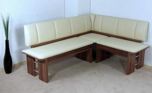 moderne Eckbank kernnuss Sitzecke Esszimmer Küche Melamin design hochwertig neu