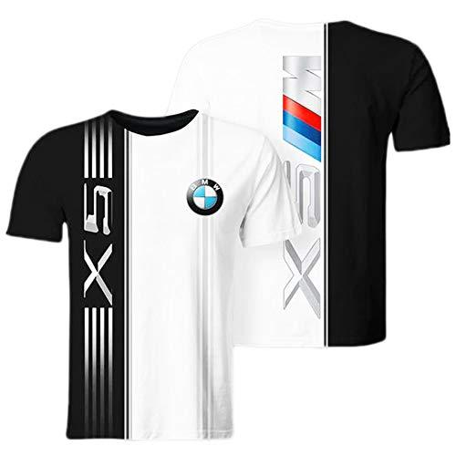xiaoxian Camisetas Larga/Corta Manga por Bmws-3D Impresión Unisexo T-Shirts Aficionados Hombres Adolescentes Camisas Deporte / A1 / 3XL