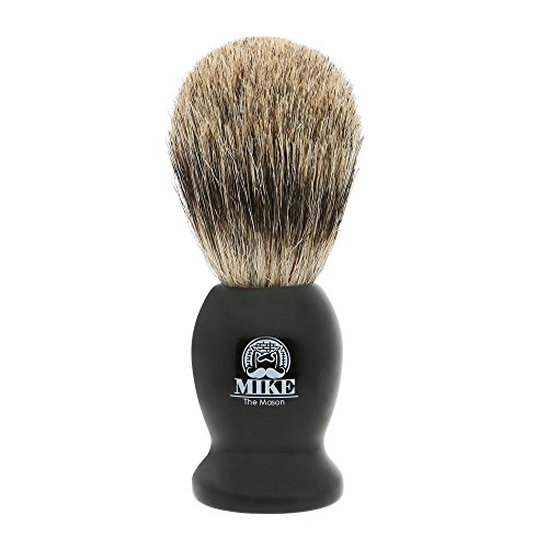 Complete Wet Shave Kit | Mike the Mason | Gift Set Includes: 1 Hawk Razor, 1 Pure Badger Hair Brush, 1 Organic Honey Oatmeal Shave Bar, 5 Premium Mens Blades, and a Razor Stand