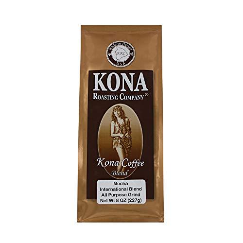 Kona Roasting Company Mocha Flavored Coffee Blend, Ground Coffee (8 oz)
