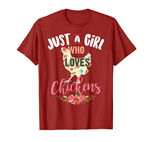 Just A Girl Who Loves Chickens Shirt Poultry Lover Cute Gift