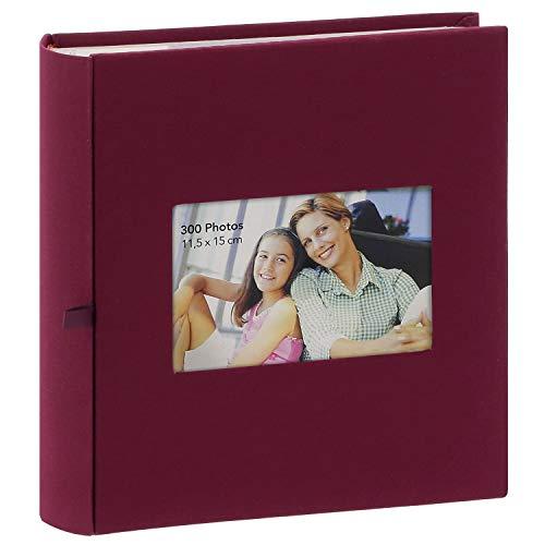 Album Photo à pochettes Square Bordeaux 300 photos 11.5x15 cm